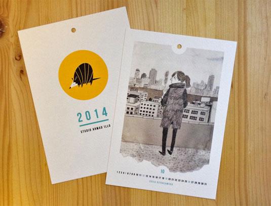 Illustration Calendar Design : Amazing calendar designs for creative bloq