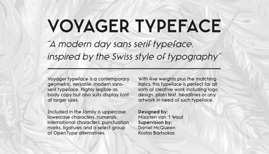 Voyager font