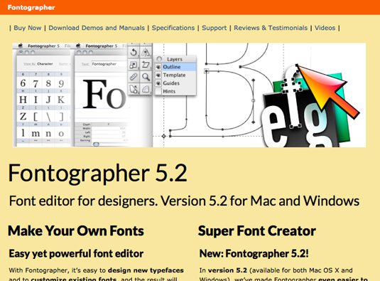 Best font editors: Fontographer