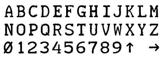 Free typewriter font: Teletype
