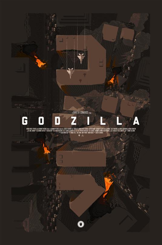 design tributes to Godzilla