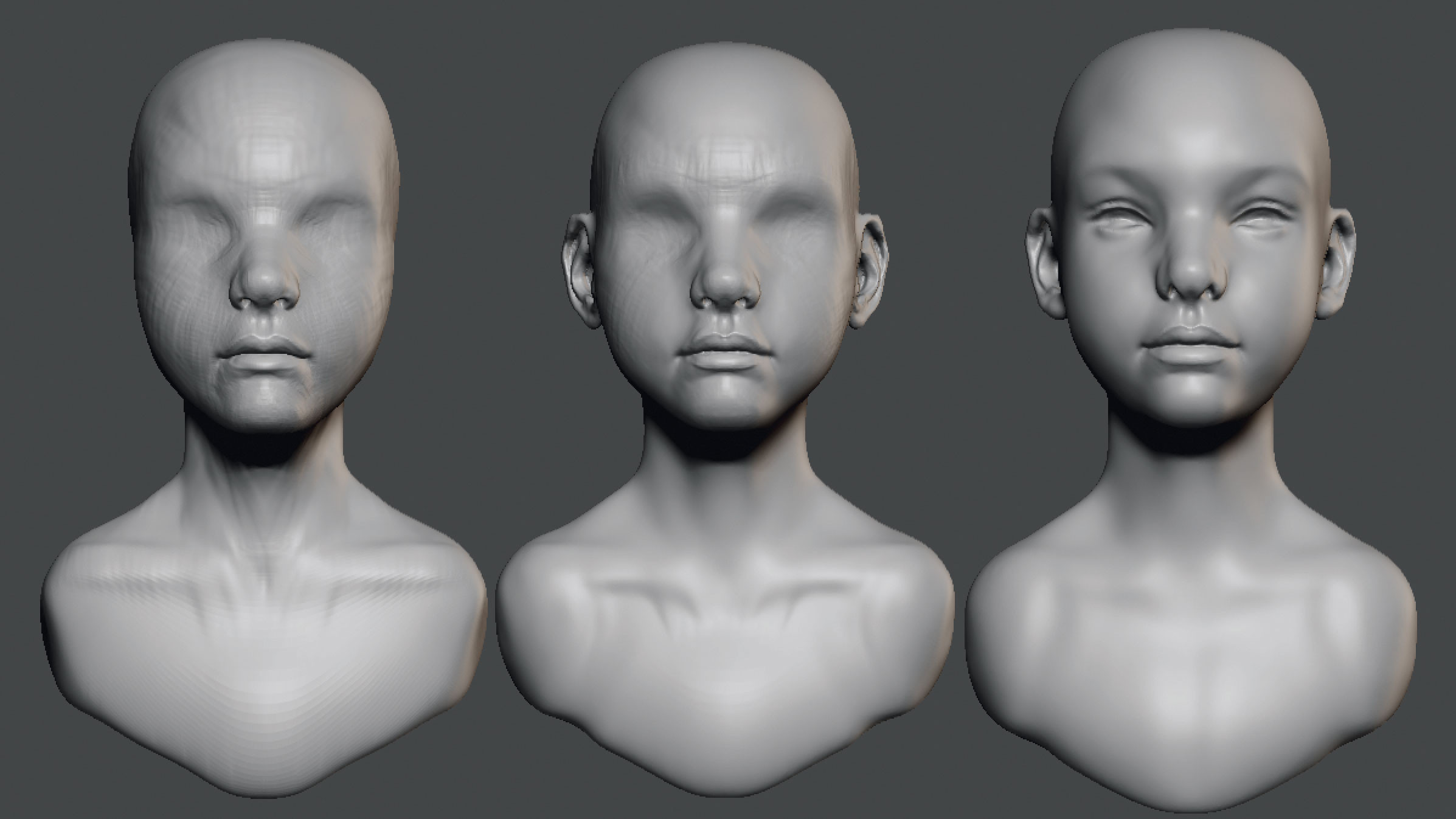 Master personality in 3D illustrations: find the character's face