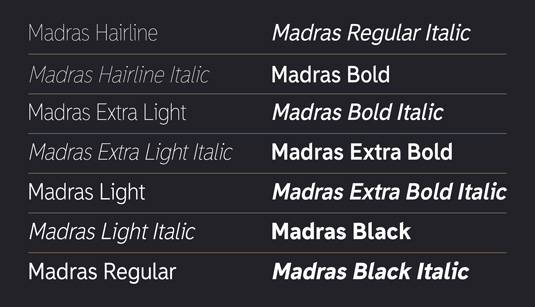Madras font