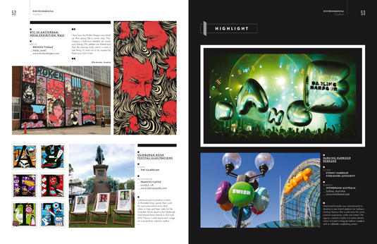 Another spread from the Environmental section of the Illustration Annual