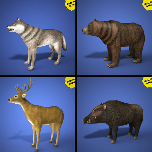 Free 3D models: Animal collection