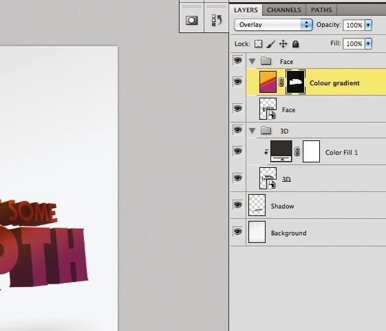 3D type: step 6