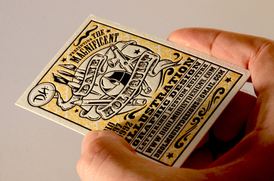 Letterpress business cards: Dane Holmquist