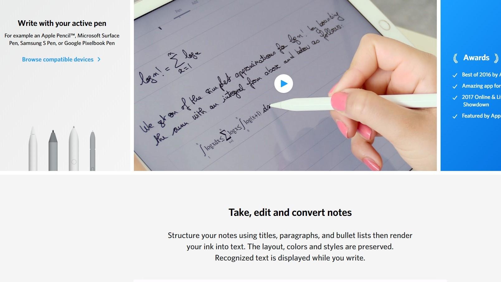 best note taking app for ipad pro of 2018 tech news log. Black Bedroom Furniture Sets. Home Design Ideas
