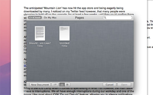 OS X 10.8 Mountain Lion: is iCloud any good?