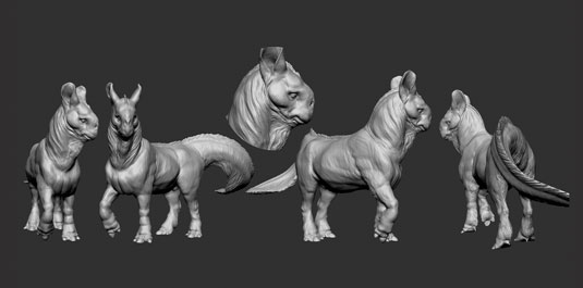 How to model a fantastical 3D creature