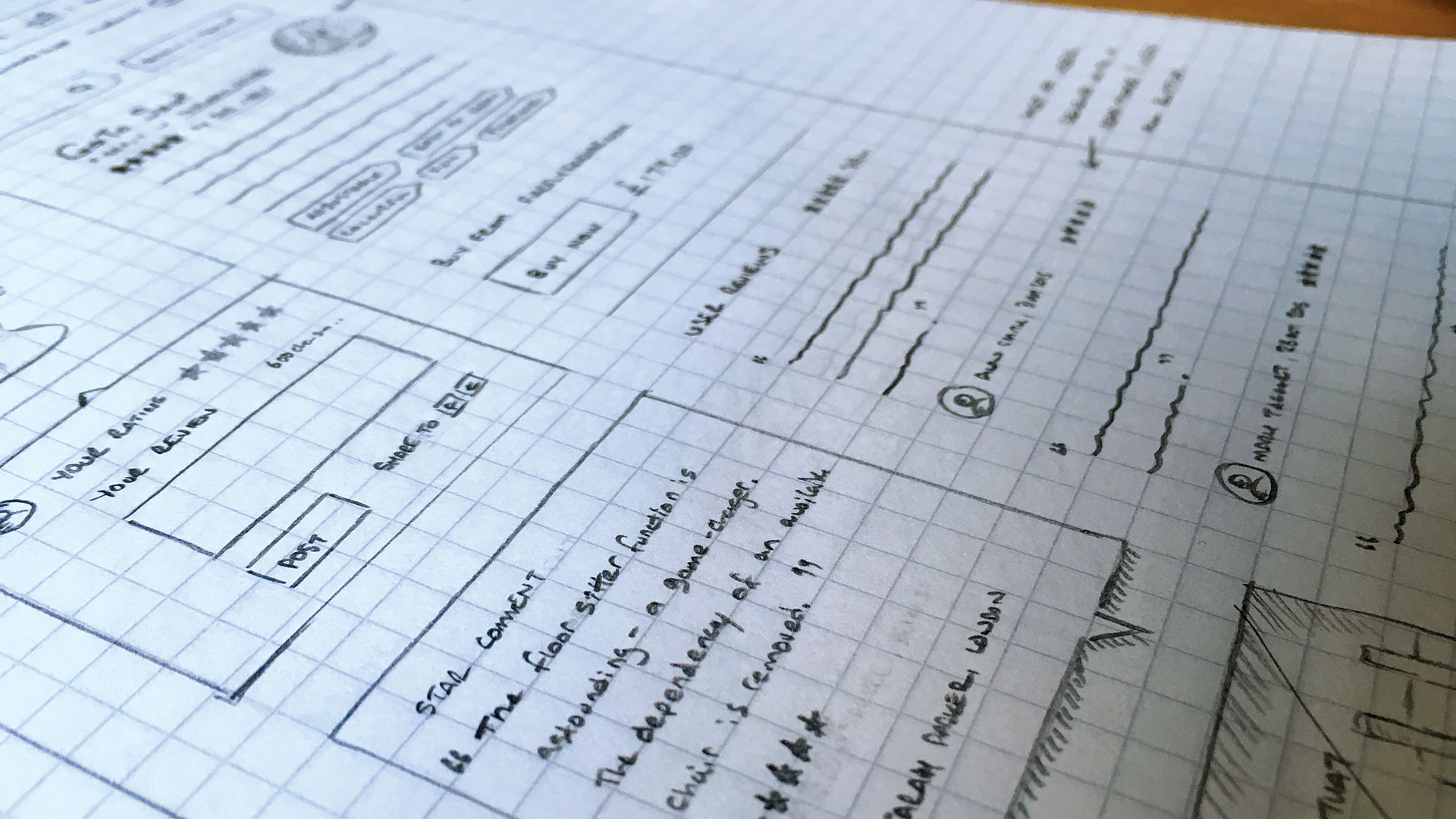 Speed up your web workflow with style guides - Rough sketches