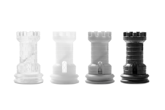 3D printed chess pieces