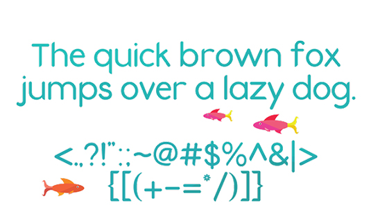 Free fonts: Fins