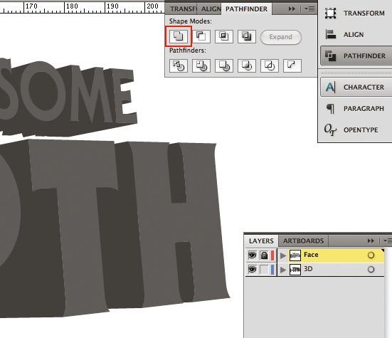 3D type: step 4