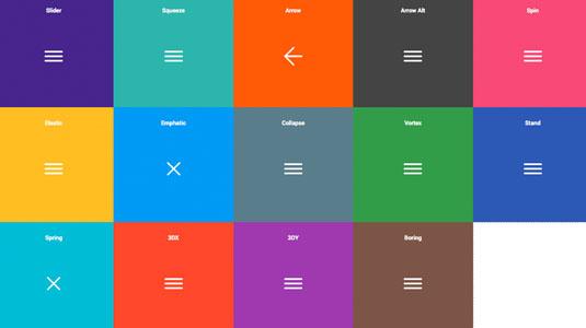 web design tools: hamburgers