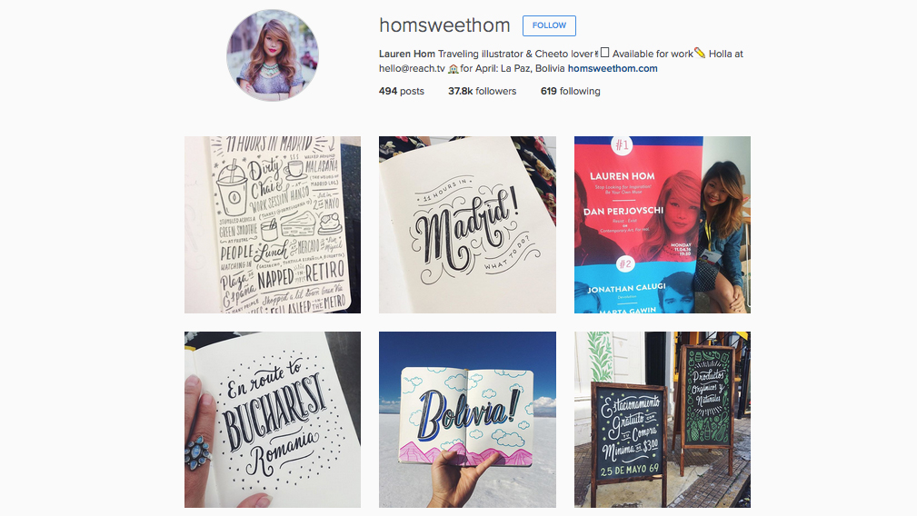 Graphic designers to follow on Instagram: Lauren Hom
