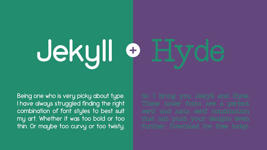 Free font: Jekyll and Hyde