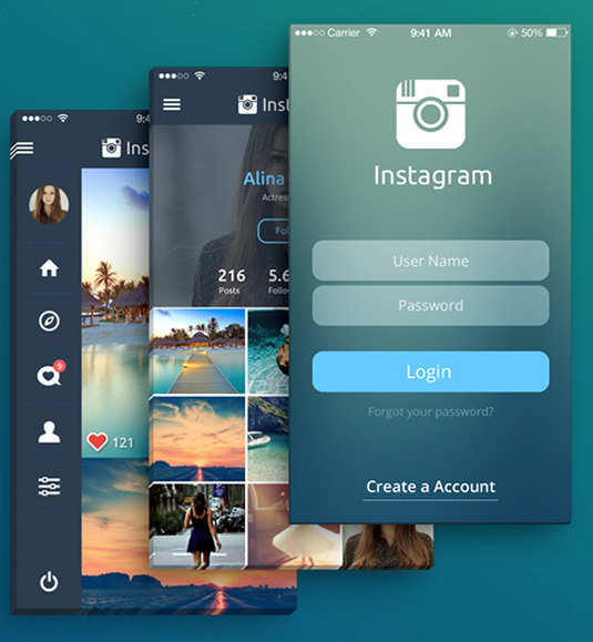 Instagram concept design