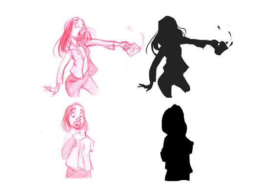 Sketching tips for beginners: Silhouettes