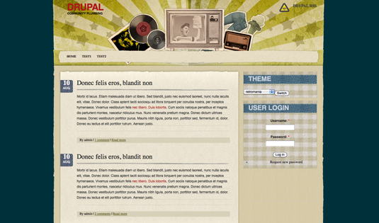 Drupal themes - Retromania