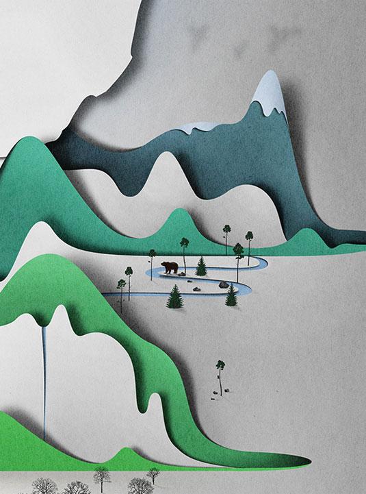 papercut landscape