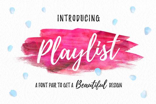 Free font: Playlist