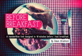 Fuentes de escritura libre antes del desayuno