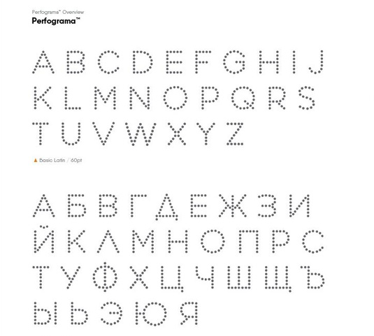 Free font: Perfograma