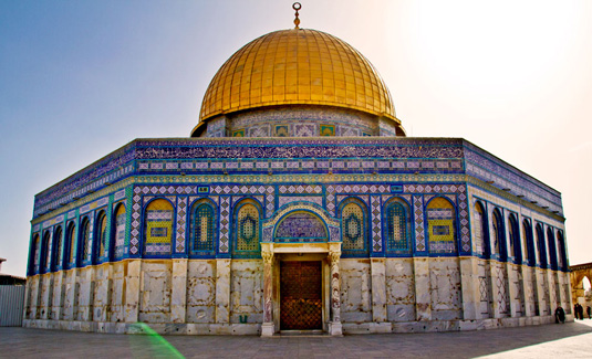 Famous buildings: Dome of the Rock in Jerusalem