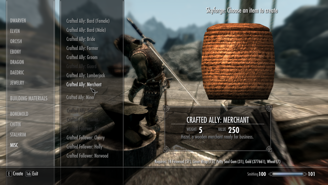 build wooden followers with this skyrim mod 2