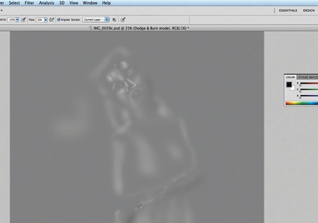 Retouch images with frequency separation: step 7