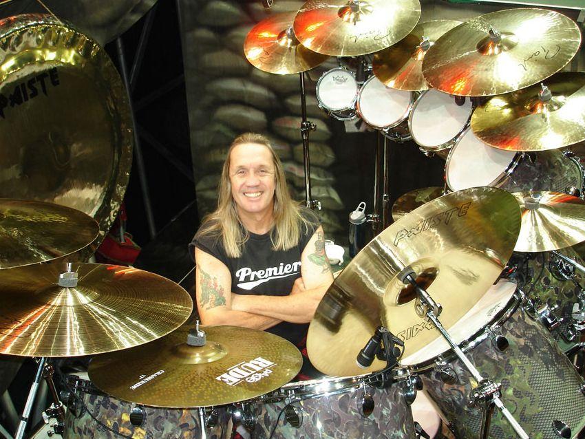 namm 2008 paiste and iron maiden drummer collaborate