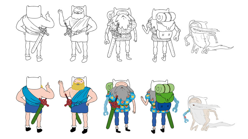 Character Design Tips : Top character design tips from adventure time s lead