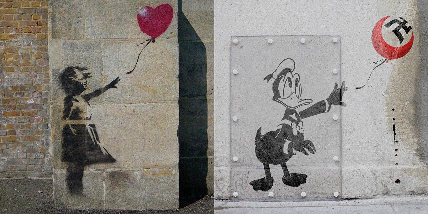 Banksy street art looney tunes