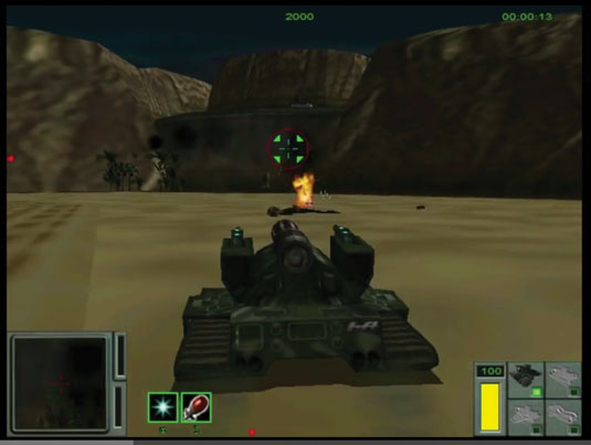 Recoil was a tank game developed in 1999 by Zipper Interactive. We'll use it as the basis for our own game