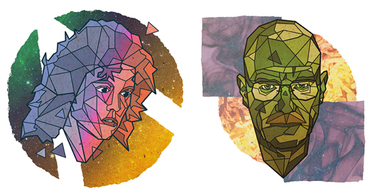 Geometric portraits