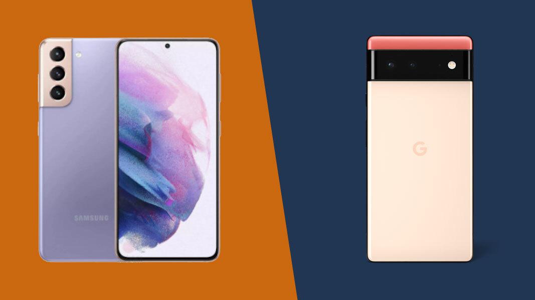 Google Pixel 6 vs Samsung Galaxy S21: stylish almost-flagship phones face off thumbnail