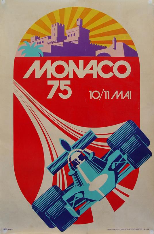 Vintage posters - Monaco 75