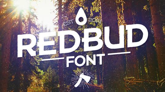 Free font: Redbud