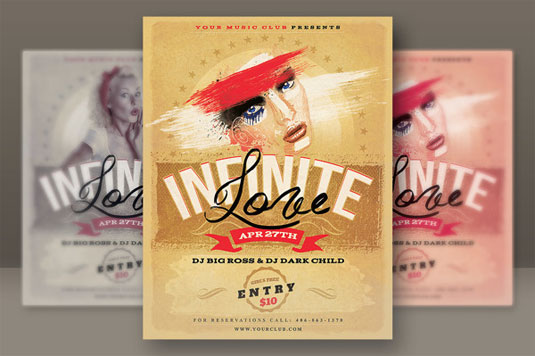 30 eyecatching flyer templates – Retro Flyer Templates