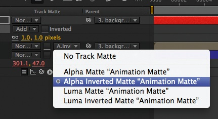 create solid animation matte
