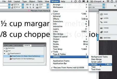 Freescript, CS5, PDF, support fractions