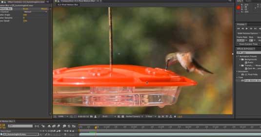 After Effects CC: Pixel motion blur