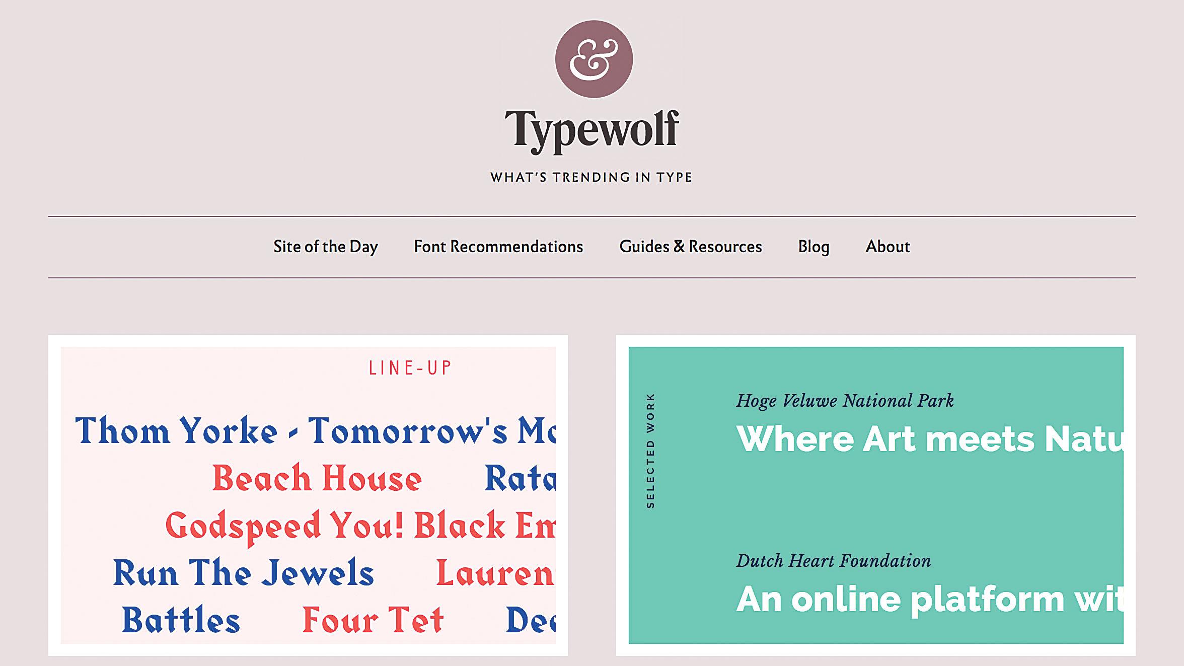 web type trends