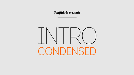 Free font: Intro Condensed