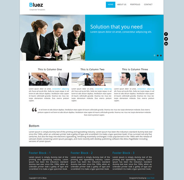 Drupal themes - Bluez
