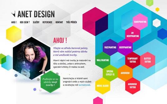 Website navigation: Anet Design homepage