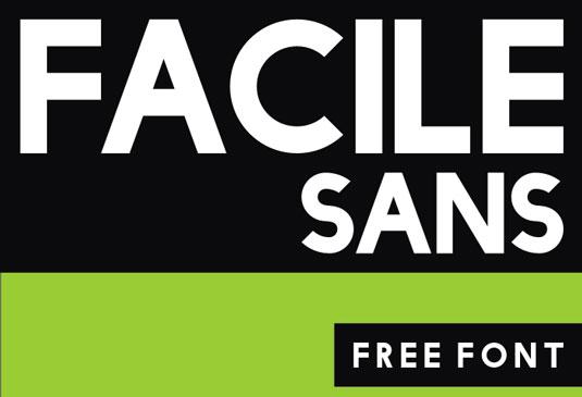 Free fonts: Facile Sans