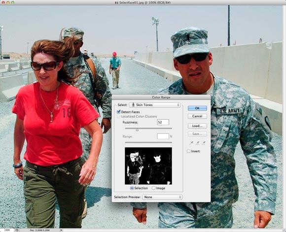 Photoshop CS6: The Select Color dialog