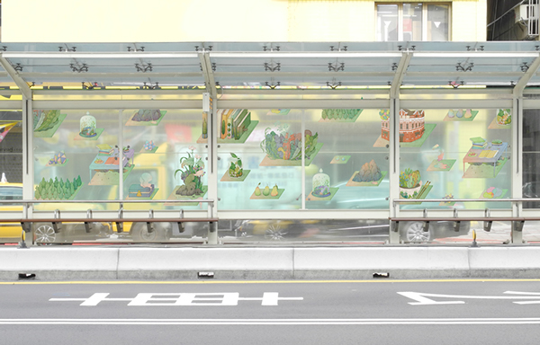illustrated bus stops
